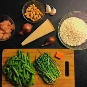 Risotto met kip en cashewnoten