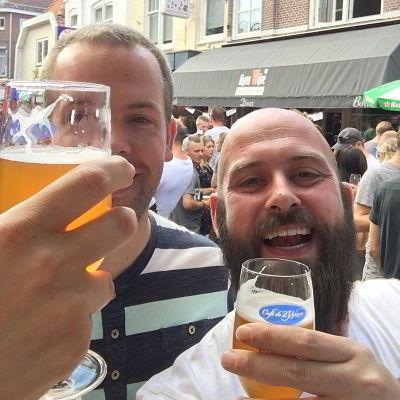 Bier drinken met vrienden