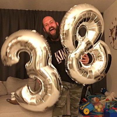 Feestloods XXL ballonnen voor de verjaardag van Papablogger