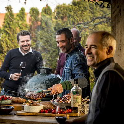 Winter BBQ met vrienden