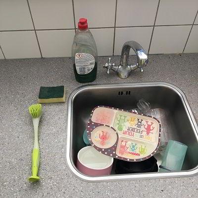 Afwassen voorbereiding, afwassen benodigdheden, de vaat,